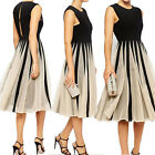 Womens Chiffon Formal Long Prom Sleeveless Party Wedding Gown Gorgerous Dress