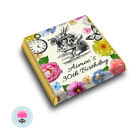 Personalised ALICE in Wonderland Vintage Floral Tea Party Favour Chocolates
