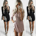Fashion Women Casual Long Sleeve Loose Chiffon T Shirt Top Blouse Summer Dress