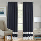 2 Pack: Varsity Heavy Semi Sheer Window Curtain Panels - Assorted Colors