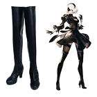 NieR:Automata 2B YoRHa No. 2 Type B Cosplay Shoes Costume Over Knee Long Boots