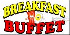 (CHOOSE YOUR SIZE) Breakfast Buffet DECAL Food Truck Vinyl Sign Concession