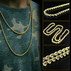 Mens Womens 14k Yellow Gold Rope Chain Necklace 1.5mm  - 16 - 24 Inches