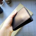 Handmade vetetable tanned leather wallet genuine cowhide card case stamping name
