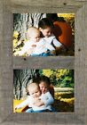 """Barn Wood Vertical Rustic Panel Picture Frame Displays 5"""" x 7"""" Photos"""