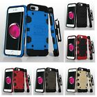 Storm Tank Hybrid Cover Case Holster Tempered Glass Protector For iPhone 6 6s 7