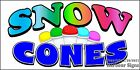 (CHOOSE YOUR SIZE) Snow Cones DECAL Concession Food Truck Vinyl Sticker