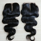 """8""""-24 inches Top Lace Closure Virgin Remy Human Hair Swiss Lace Body Wave Black"""