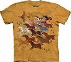 Horses and Sun T Shirt Adult Unisex The Mountain