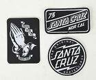 SANTA CRUZ Sew on Skateboard Patch Set - Assorted Logos - Jason Jessee, Dot Logo
