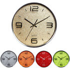 12-inch Modern Fashion Stainless Steel Round Quartz Home Office Wall Clock