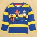 Boys Shirt Spring Fall Cotton Long Sleeve Striped Blue Yellow Nova Size 2T-6