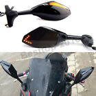 Black Motorcycle Integrated LED Rear View Side Mirrors For Hyosung GT650R GT250R $28.98 USD