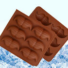 6 Holes Cute Mustaches Silicone Ice Cube Chocolate Cake Cookie Decoration Mold