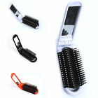FA New Portable Travel Folding Hair Brush With Mirror Compact Pocket Size Comb
