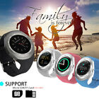 "Y1 Bluetooth Smart Wrist Watch 1.22"" Round Touch Phone Mate for Android iPhone"