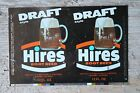 Vintage Factory Unrolled Hires Draft Root Beer Soda Can Flat Pull Zip Tab Sign