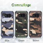 For Samsung Galaxy S8 S8 Plus Army Camo Case Camouflage Soft TPU+PC Cover 2 IN 1