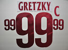 Arizona Coyotes Authentic Jersey Lettering GRETZKY 99 for White Jersey