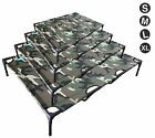 New Heavy Duty Pet Dog Bed Camo Coloured Trampoline Hammock Canvas Dog Bed