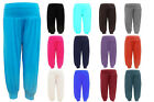 Girls Kids New Dance Full Length Plain Harem Hareem Trousers Pants Legging 7-13