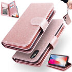 For iPhone X 6 8 7 Plus Luxury Wallet Case Flip Leather Removable Magnetic Cover