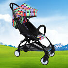 Pushchair Lightweight Mini Baby Stroller Buggy From Birth Color Plaid Free P&P