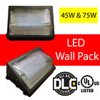 LED Wall Pack Light Outdoor Industry Standard Forward Throw 45W 75W UL DLC