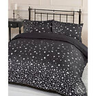 Diamond Jewel Print Duvet Cover - Grey & Black Quilt Cover Bedding Bed Set