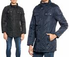 Men's Quilted Lightweight Casual Polyester ZipUp Button Up Shirt Jacket w/Pocket