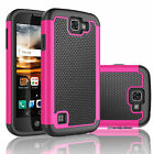 Armor Shockproof Rubber PC Hard Case Cover For LG Optimus Zone 3/Rebel LTE/Spree