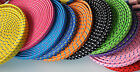 FLAT BRAIDED 6FT fabric charge cable cord nylon FOR iphone 4 4s & ipod data sync
