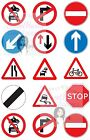 ROAD SIGNS CAKE TOPPERS DECORATIONS X15 TRAFFIC SIGNS LEARNER DRIVING TEST
