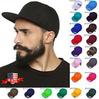 Mens Plain Baseball Caps Solid Blank Snapback Hats New Classic Hip Hop Style
