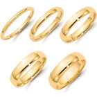 HEAVY SOLID 14K YELLOW GOLD 2MM 3MM 4MM 5MM 6MM COMFORT FIT WEDDING BAND RING