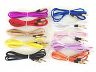 50 Lot AUX FLAT BRAID 3FT CABLES FOR iphone 6 4s 5 5s ipod mp3 stereo audio amp