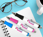 Large Body Custom Personalised Pens - 3 Colours - Black Ink - Design your own!