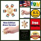 Limited Version Brass Toy EDC Hand Finger Super Long Timing Luminous Spinner*