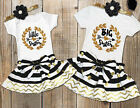 Infant Baby Girl Little Big Sister Matching Clothes Romper T-shirt Dress Outfits