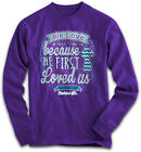 """REDUCED!!!!!! """"We Love"""" Kerusso Cherished Girl Adult Purple Long Sleeve T-Shirt"""