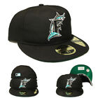 New Era Florida Marlins Fitted Hat Retro Crown Relaxed Heritage 1930 1940 Cap