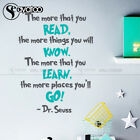 Home Decoration Book Dr Seuss The More That You Read Quotes Saying Vinyl Wall Sticker Decal Nursery Home Decor Corners