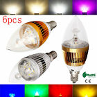 6X 6W 9W 12W 15W E12 Candelabra Dimmable LED Candle Bulbs Energy Saving Lamps