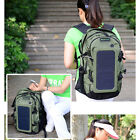 6.5W Outdoor Travel Solar Powered Backpack+Detachable Solar Panel Bag F 5V Phone