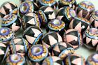 GEOMETRICAL Design  BALL    Glazed Bead           Hand Painted in Peru      V036