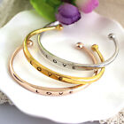 Womens Fashion Gold/Silver Plated LOVE Bracelet Jewelry Charm Cuff Bangle Gift
