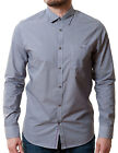 Ted Baker Shirt Mens Spotyou Long Sleeve Slim Fit Navy Print Size 3 Medium New