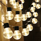 solar powered patio lights string - Outdoor String Lights for Patio Globe Party Weddings Light Bulb Solar Powered