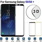 USA Full 3D Coverage Real Tempered Glass Screen Protector For Samsung S8 Plus