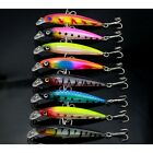 8pcs/Lot Minnow Fishing Lures 6# Hook Crank Baits Bass Deep Diving for 0.6-1.8m